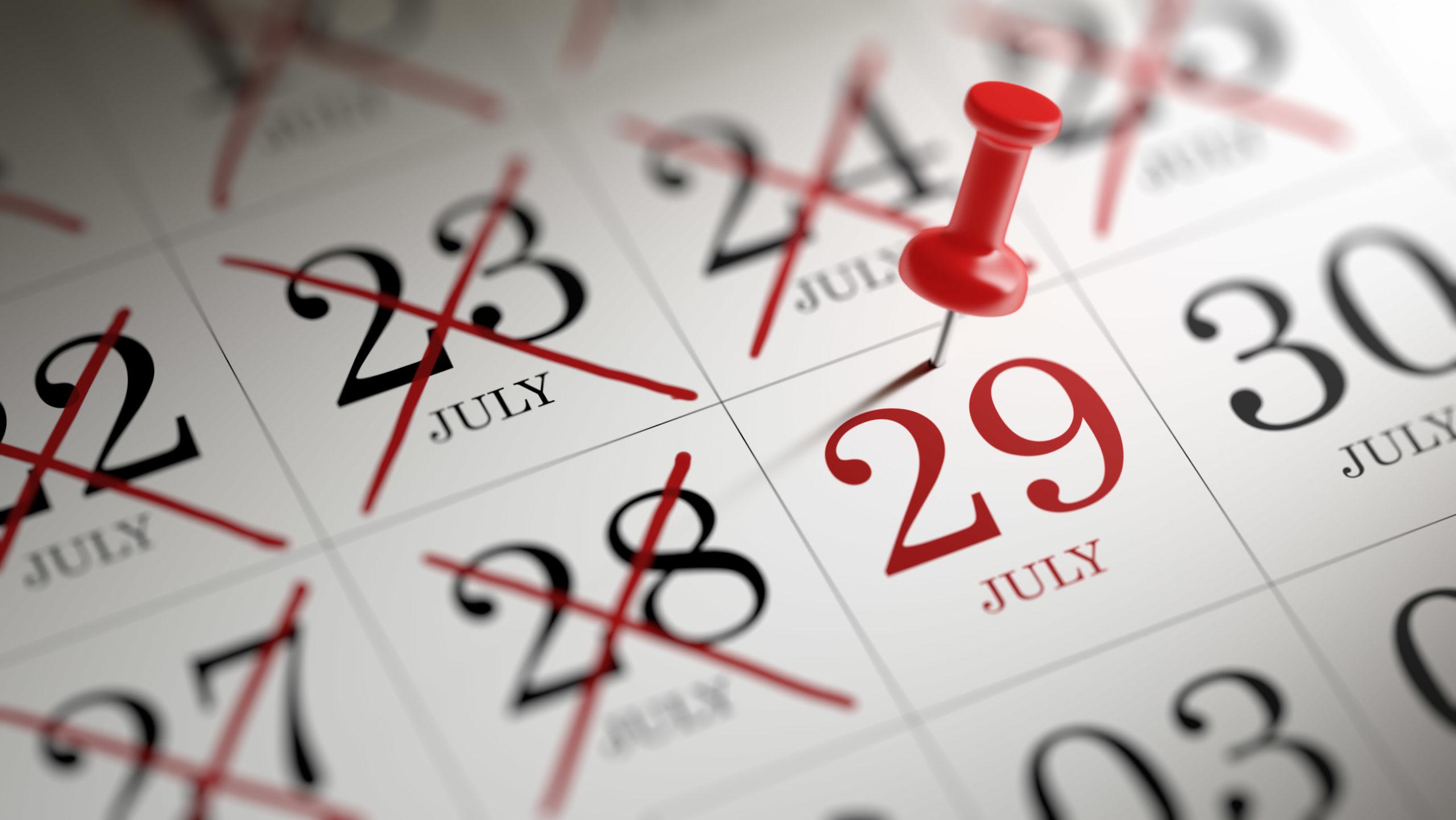 VCF New July Deadline